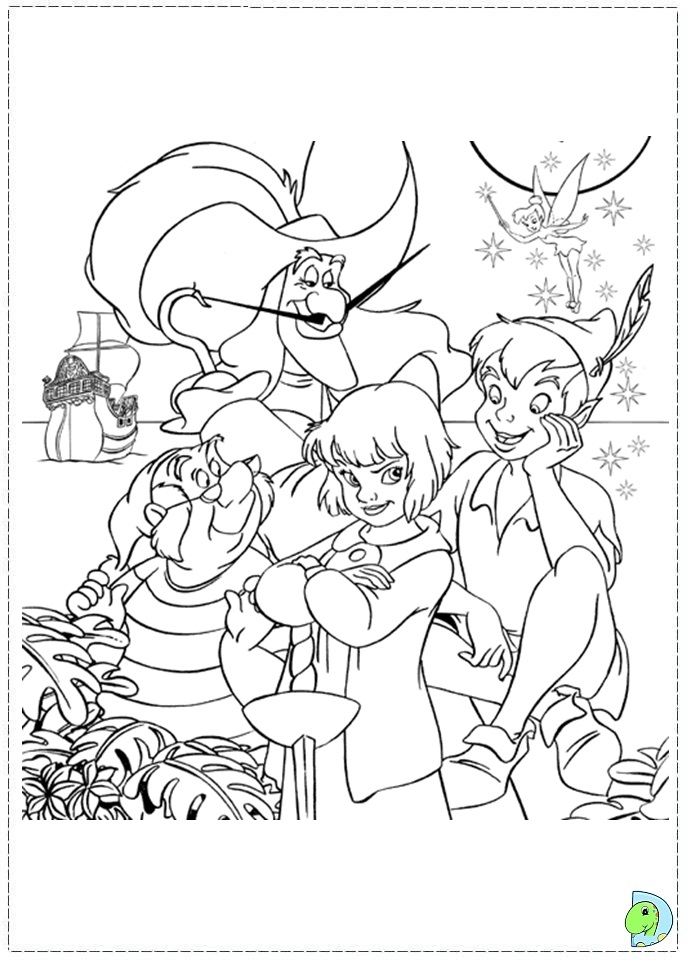 disney coloring pages peter pan - photo#24