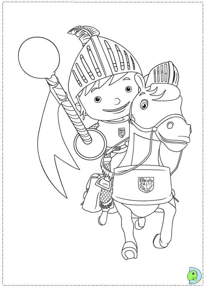 Mike The Knight Colouring Pages Mike The Colouring Pages