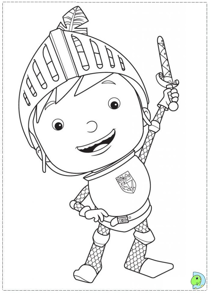 mike the knight coloring page dinokidsorg - Knight Coloring Pages 2
