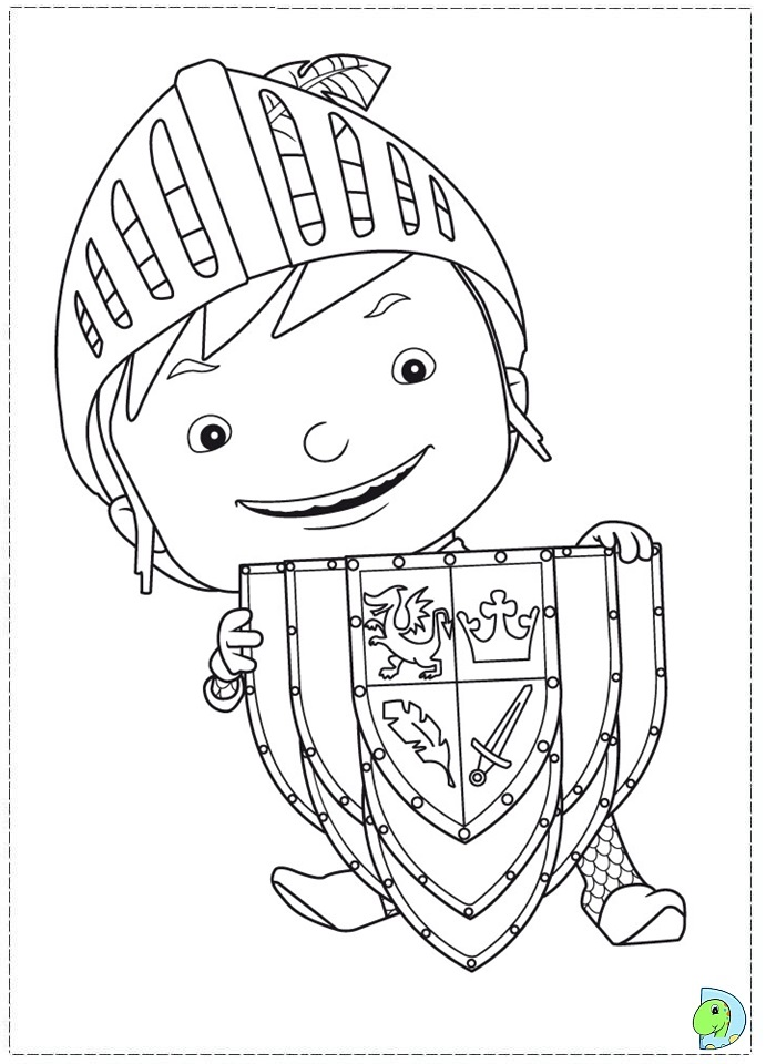 Free Coloring Pages Of Knight