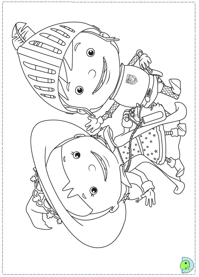 Mike The Knight Coloring Page Dinokids Org