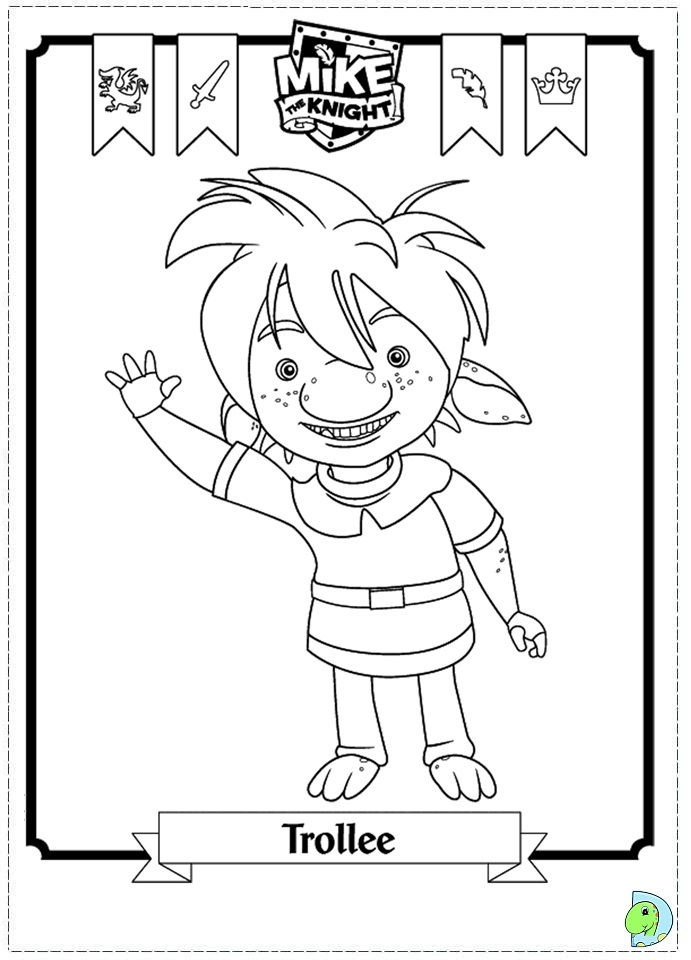 Mikethe Knight Colouring Pages Mike The Colouring Pages
