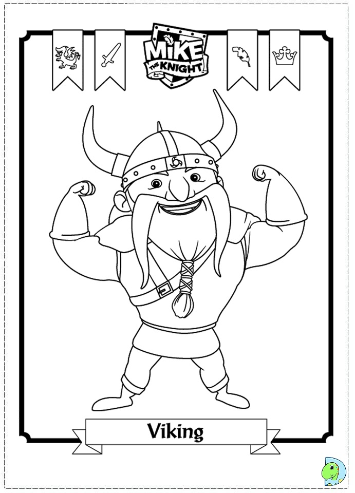 Mike The Knight Coloring Page DinoKidsorg