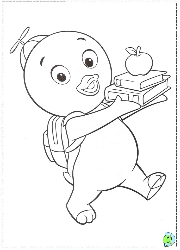 Coloring Pages Backyardigans Cowboy