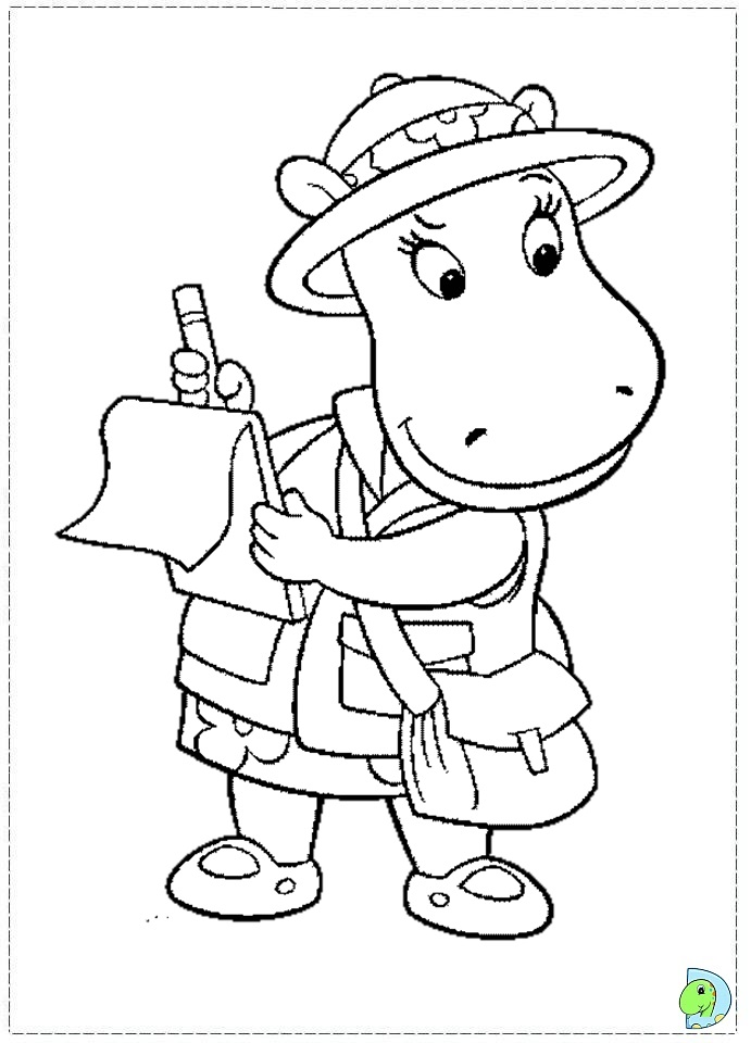 backyardigans coloring page to print dinokidsorg - Backyardigans Coloring Pages Print