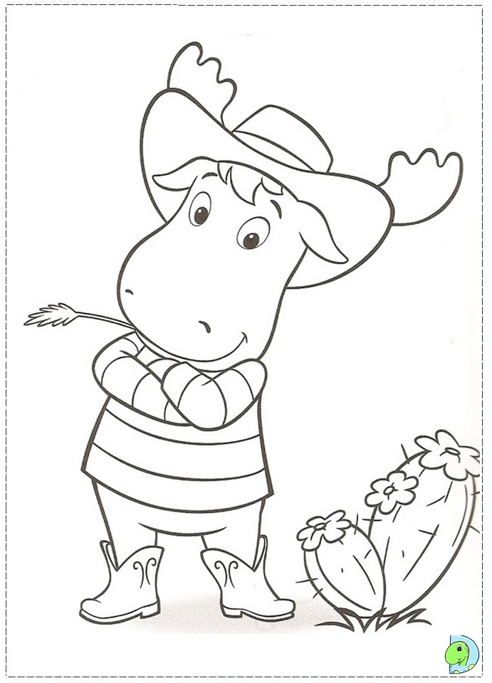backyardigans coloring page to print