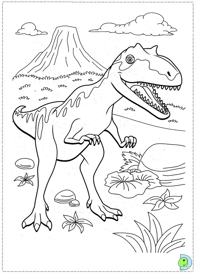 Free Coloring Pages Of Dinosaur Train