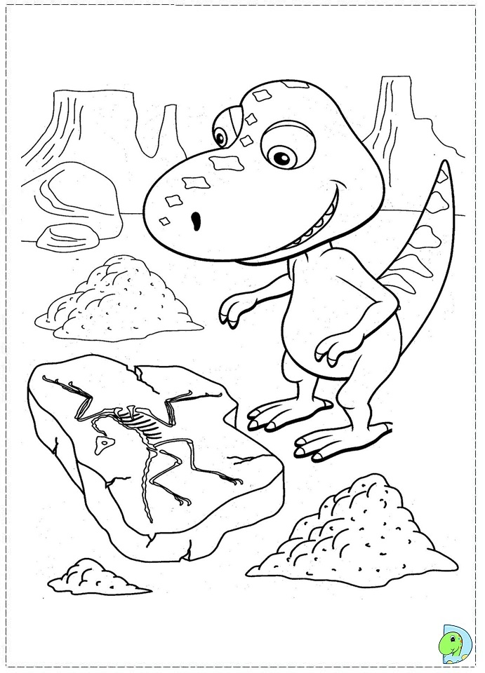 dinosaur train coloring pages shiny