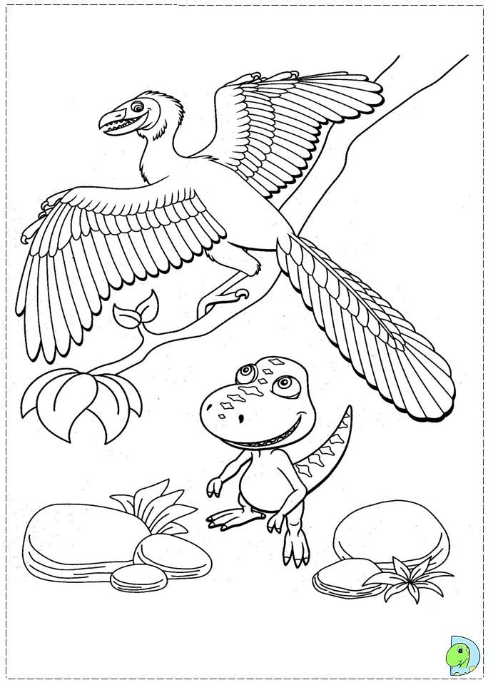 dinosaur train coloring page dinokidsorg