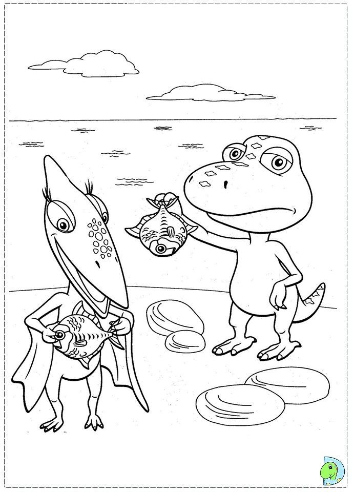 Dinosaur train conductor pages coloring pages for Troodon coloring page