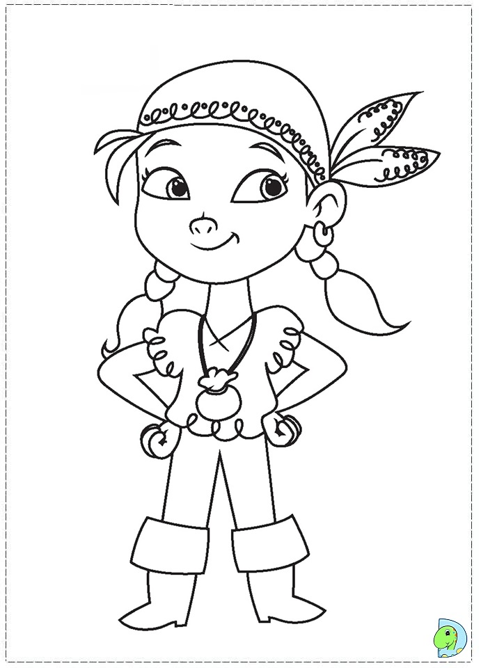 Jake and the Neverland Pirates coloring page- DinoKids.org