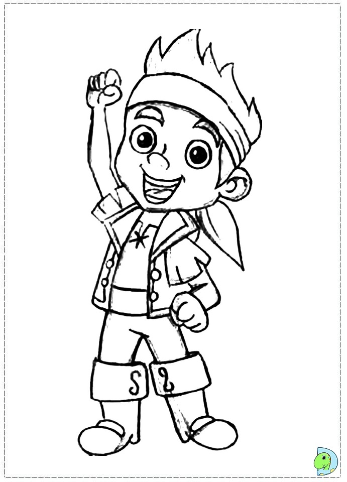 Jake And The Neverland Pirate Printable Coloring Pages