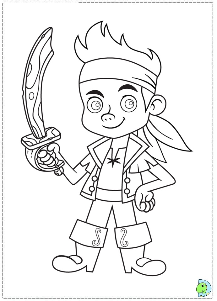 Jake And The Neverland Pirates Coloring Page Dinokids Org