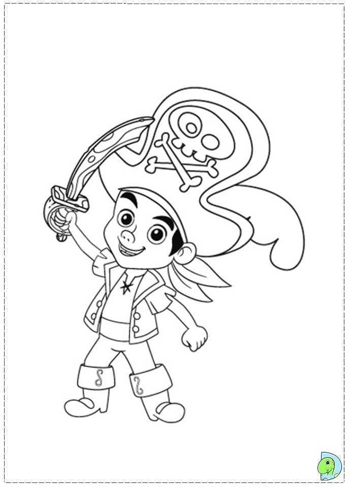 Jake and the neverland pirates coloring page for Jake neverland pirates coloring pages