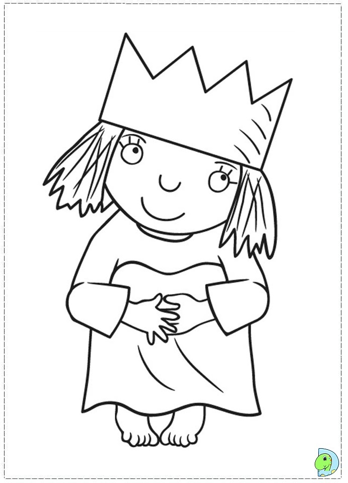 Little Princess Colouring Pages