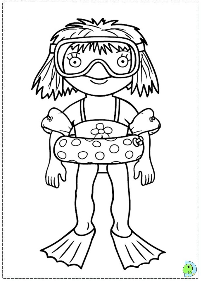 Little Princess Coloring Page DinoKidsorg