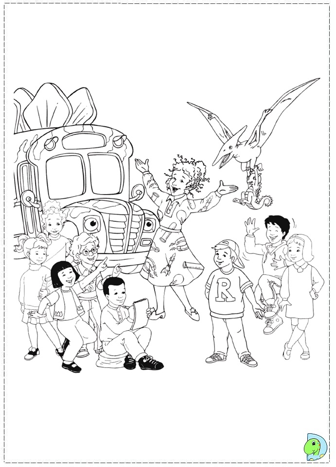 The Magic School Bus Coloring Page- DinoKids.org