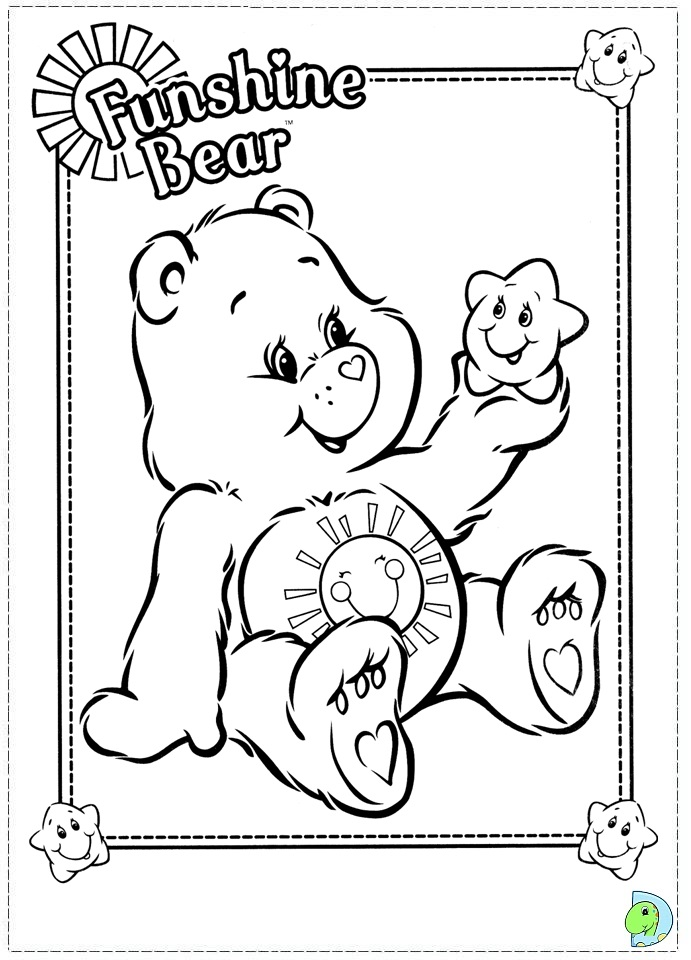 care bears coloring pages oopsy - photo#36