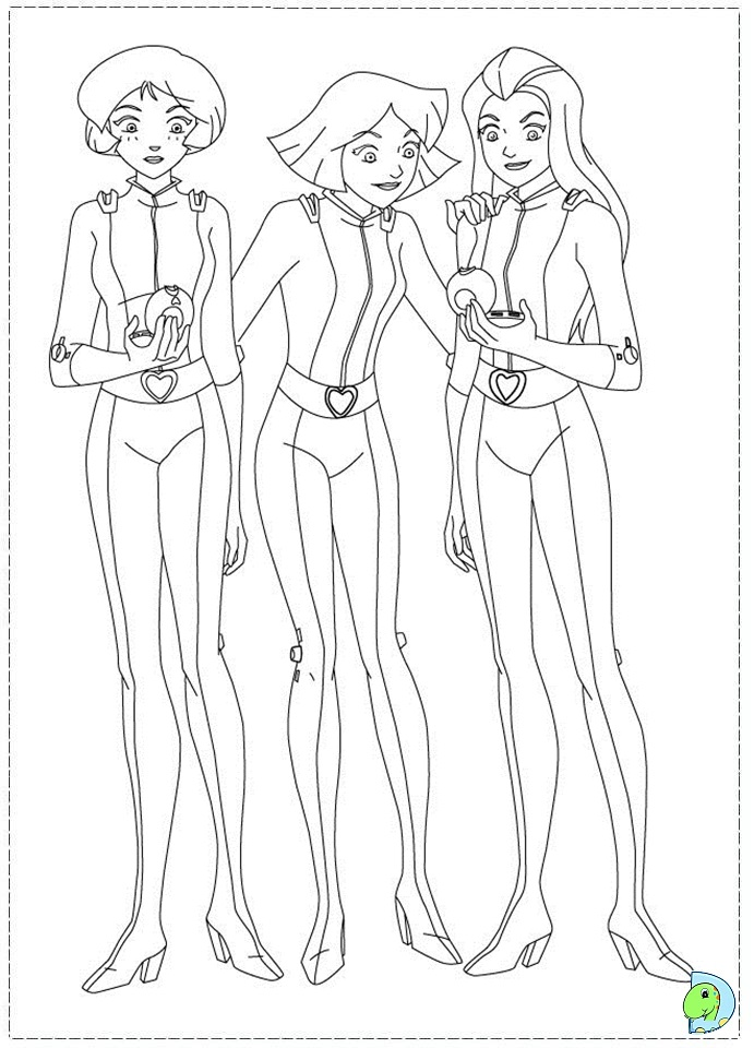 Totally Spies Coloring Pages Totally Spies Colouring Pages