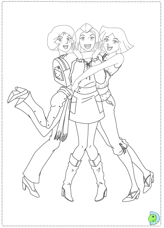 coloring pages totally spies - photo#11