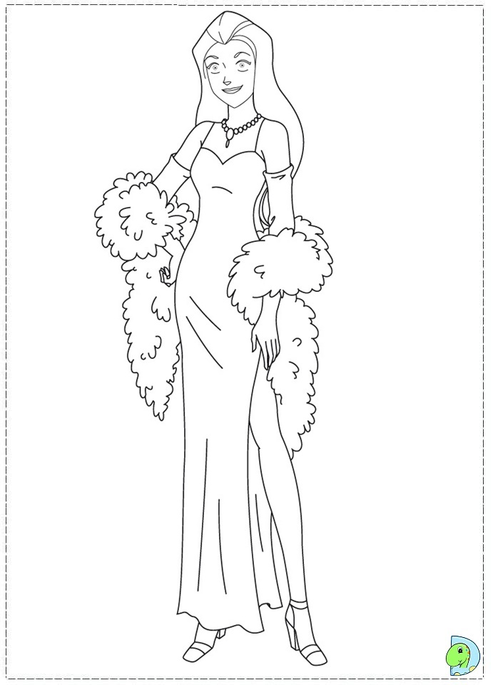 Totally spies coloring page - Comment dessiner les totally spies ...