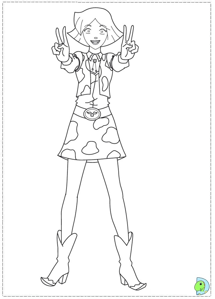 coloring pages of totally spies - photo#17