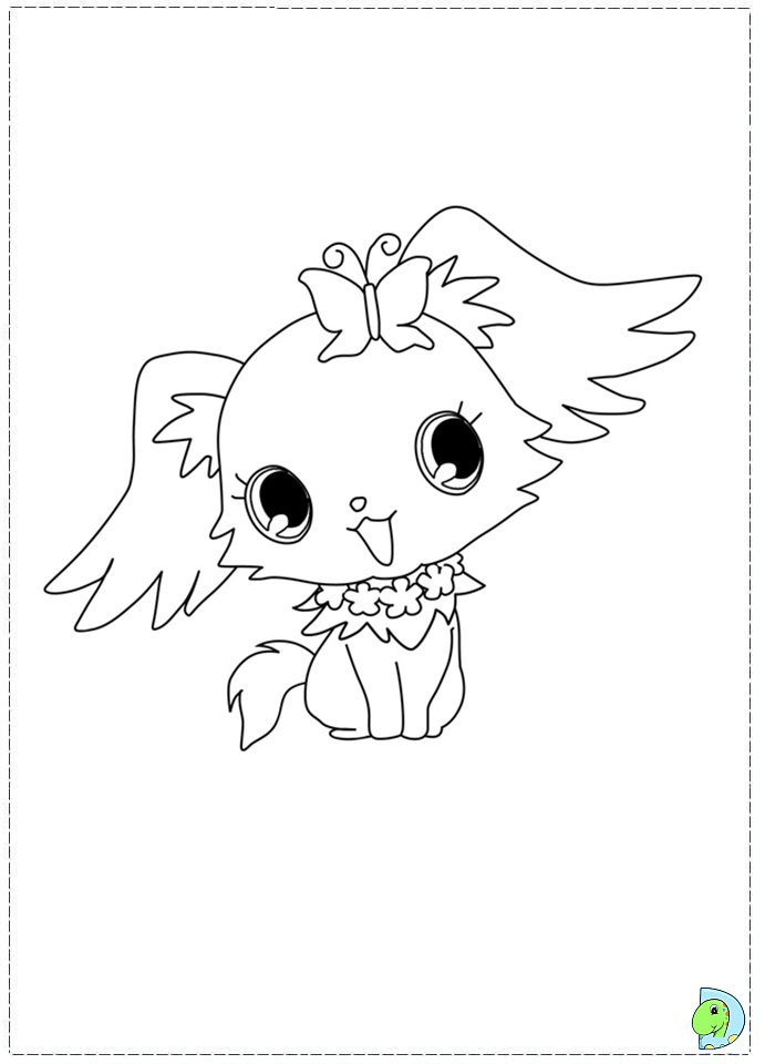 jewel coloring pages - how to draw jewelpet sunchine