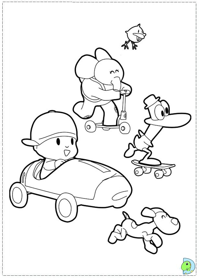 Pocoyo coloring page dinokids org