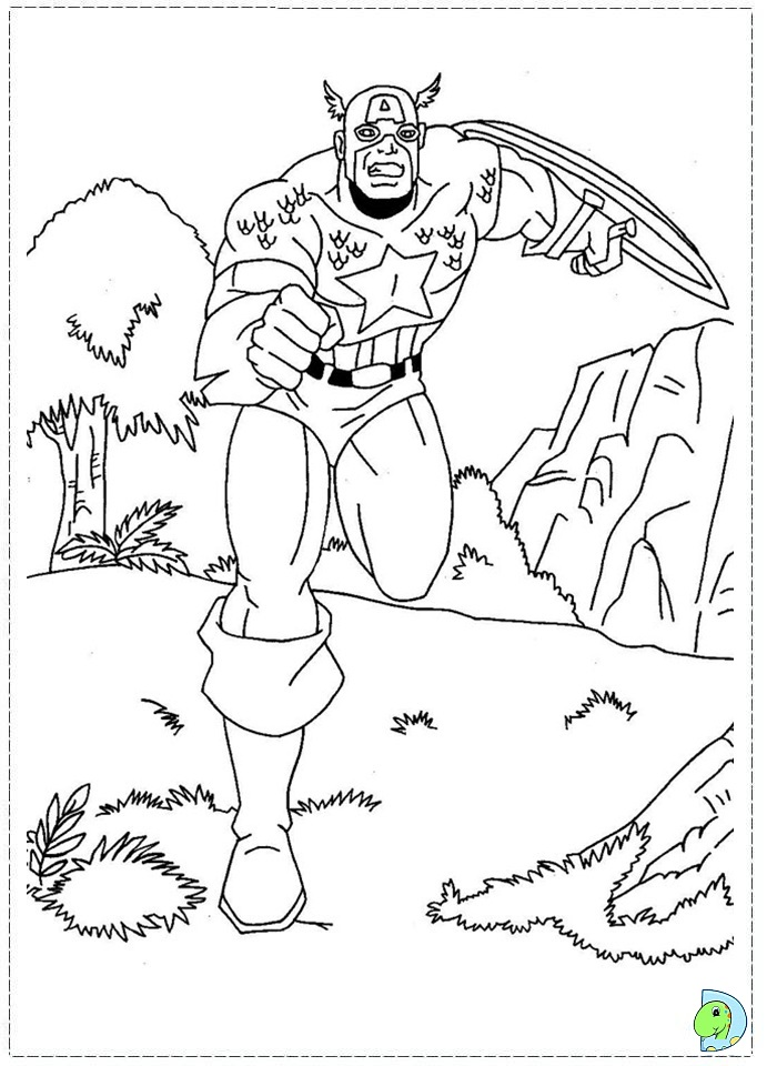 Image Result For Captain America Coloring Pages Captian