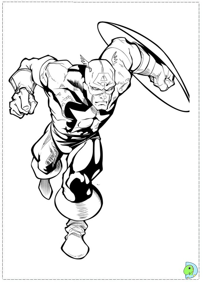 baby captain america coloring pages - photo#12