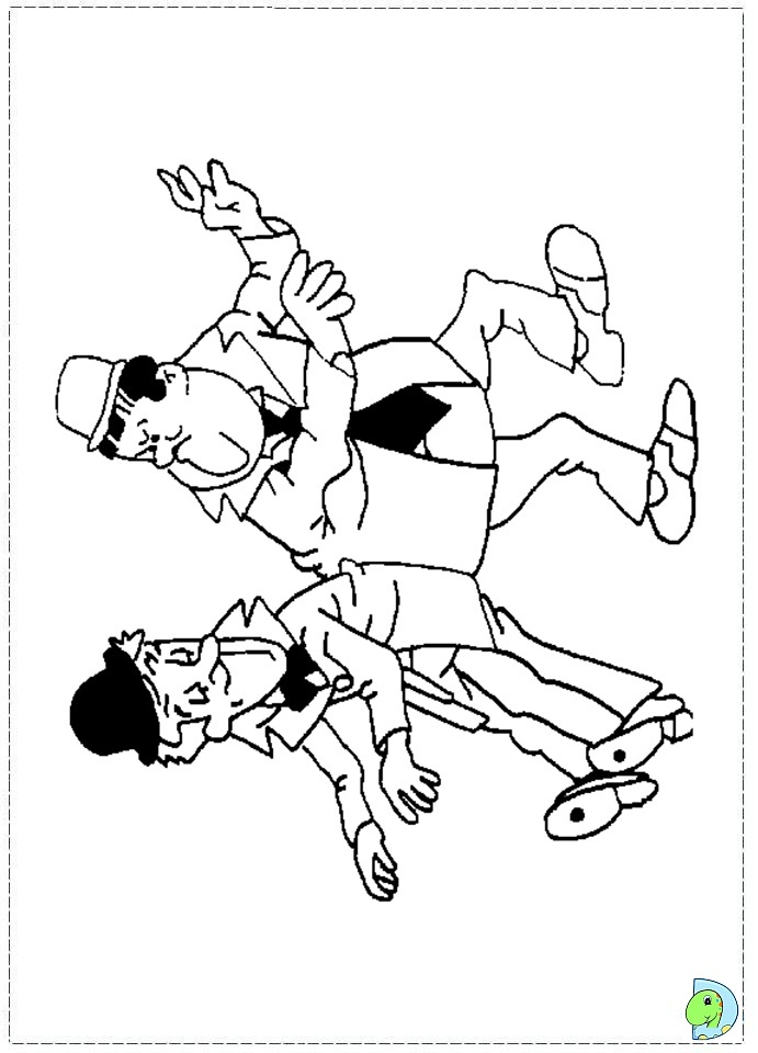 Laurel And Hardy Coloring Page Dinokids Org