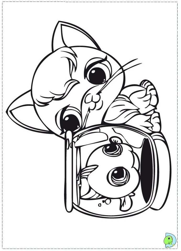 Lps dachshund coloring pages coloring pages for Littlest pet shop coloring pages dog