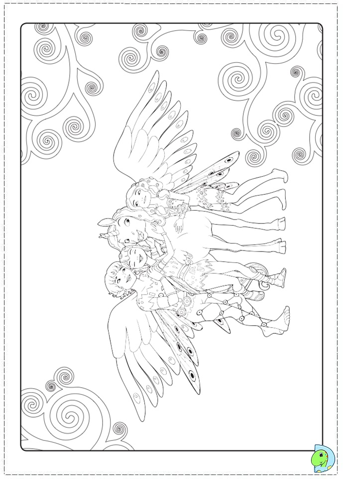 mia and me coloring pages - photo#11