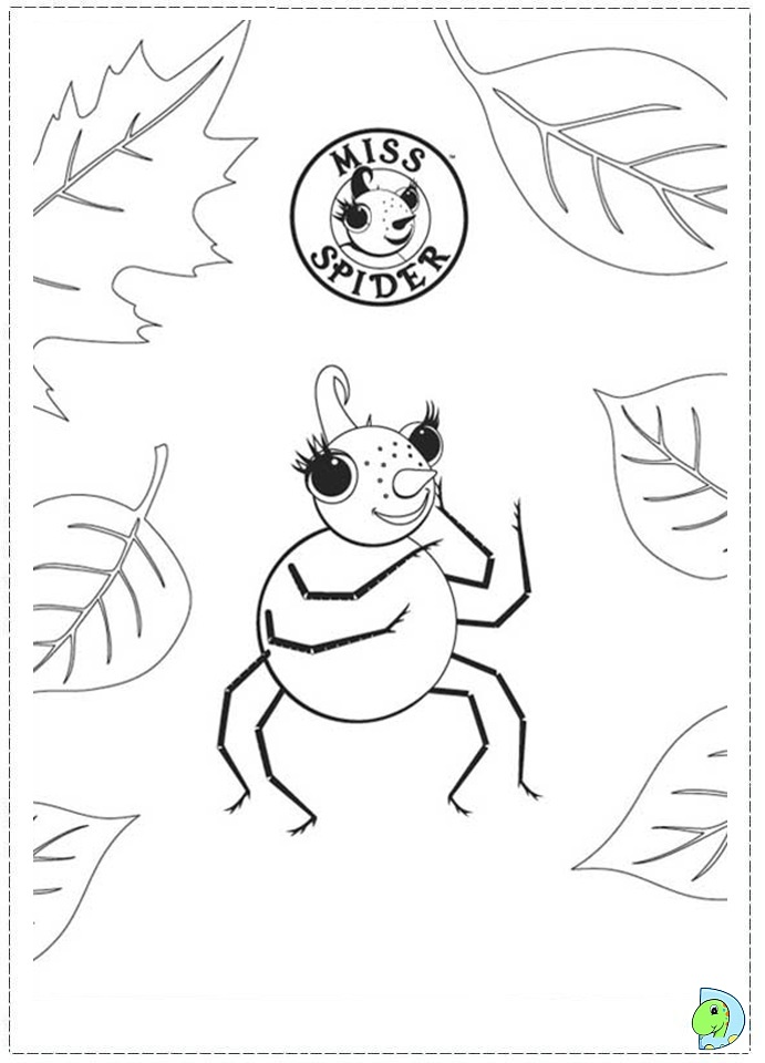 miss bindergarten coloring pages miss spider coloring pages