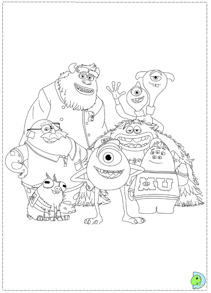 Monsters University Coloring page DinoKidsorg