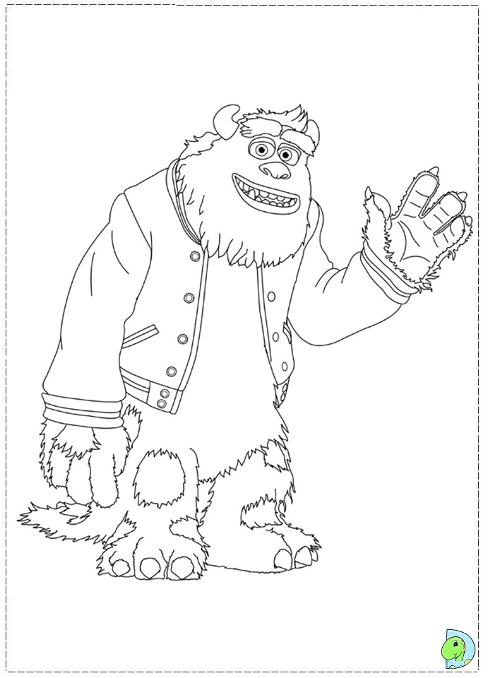 monsters university logo coloring pages - photo#7