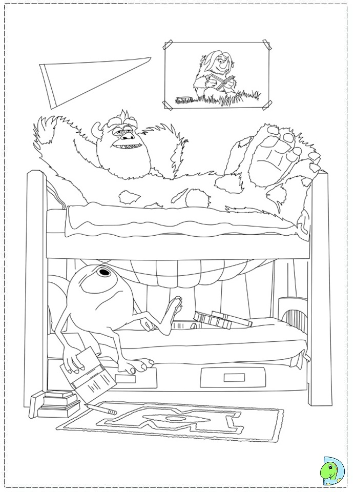 Monsters University Coloring page DinoKidsorg