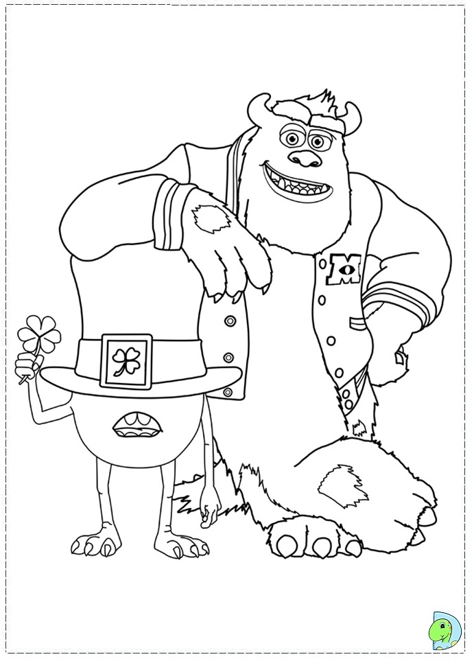 monster university coloring pages - photo#29