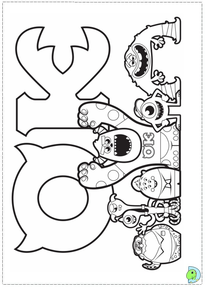 monster university coloring pages - photo#15