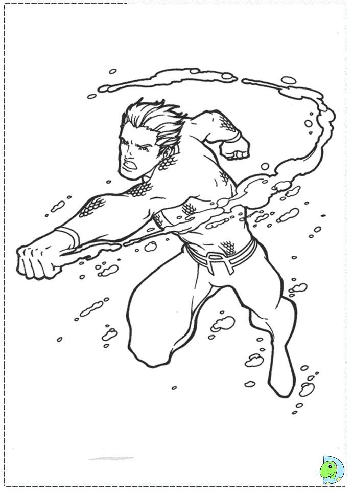 Aquaman logo coloring pages