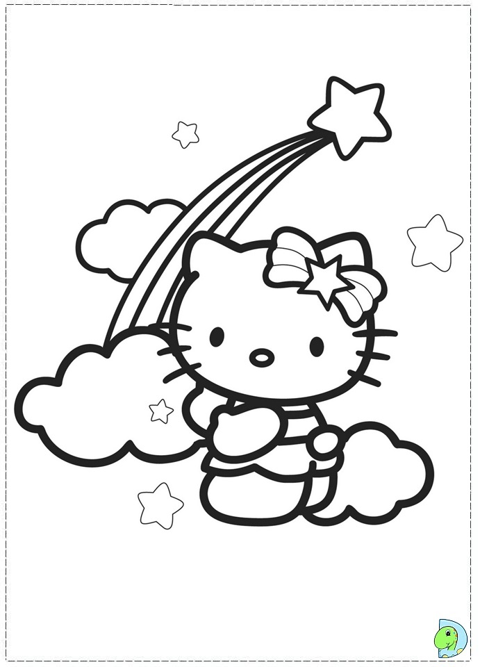 Coloring Pages Hello Kitty Dolphin : Hello kitty coloring pages