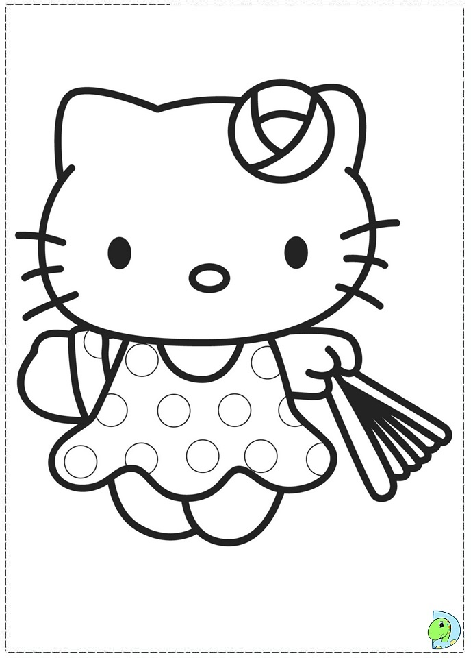 nerdy hello kitty coloring pages