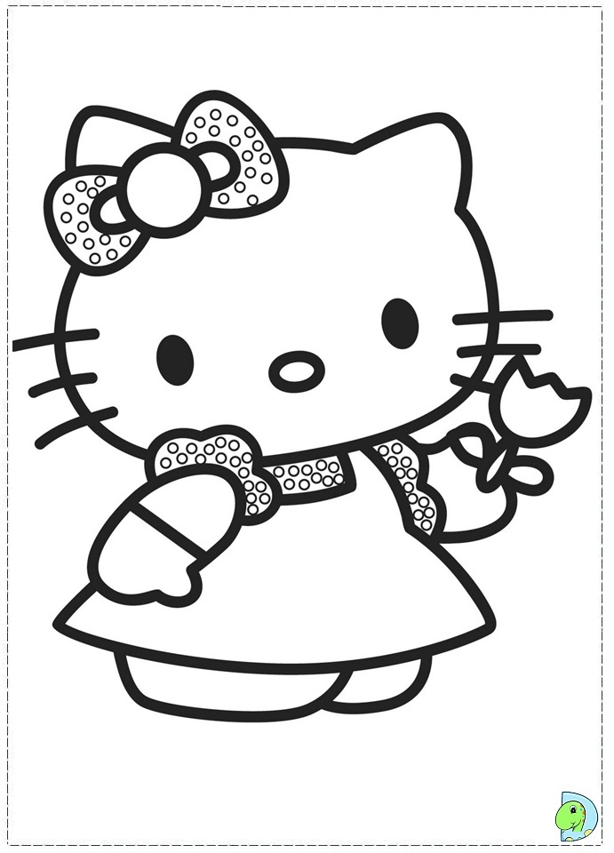 Hello Kitty Coloring Page DinoKidsorg