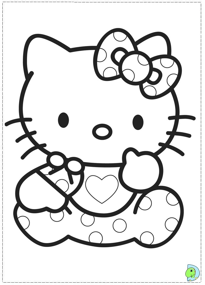 Free Nerdy Hello Kitty Coloring Pages