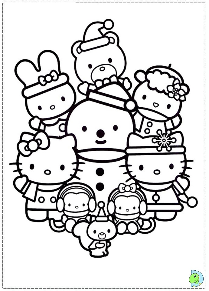 Hello Kitty Nerd Coloring Pages Printable : Free nerd hello kitty coloring pages