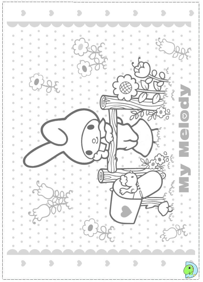 My Melody Coloring Pages