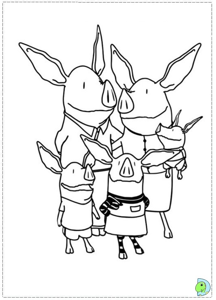 Olivia The Pig Free Coloring Pages
