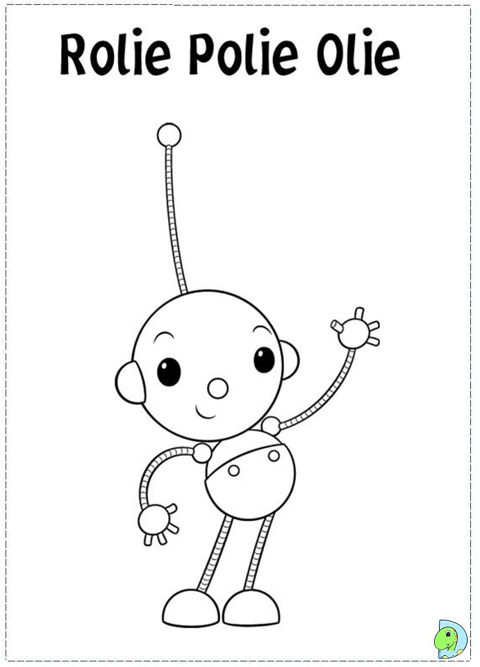 Rolie polie olie coloring page for Rolie polie olie coloring pages