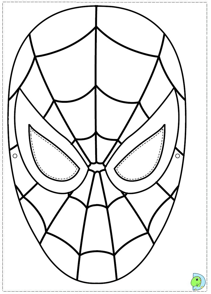 spiderman coloring page dinokidsorg