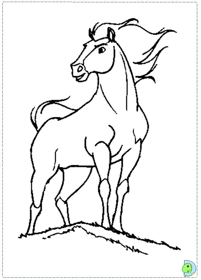 spirit stallion free coloring pages - photo#9